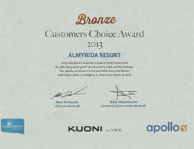 Almyrida Resort news - Bronze Award